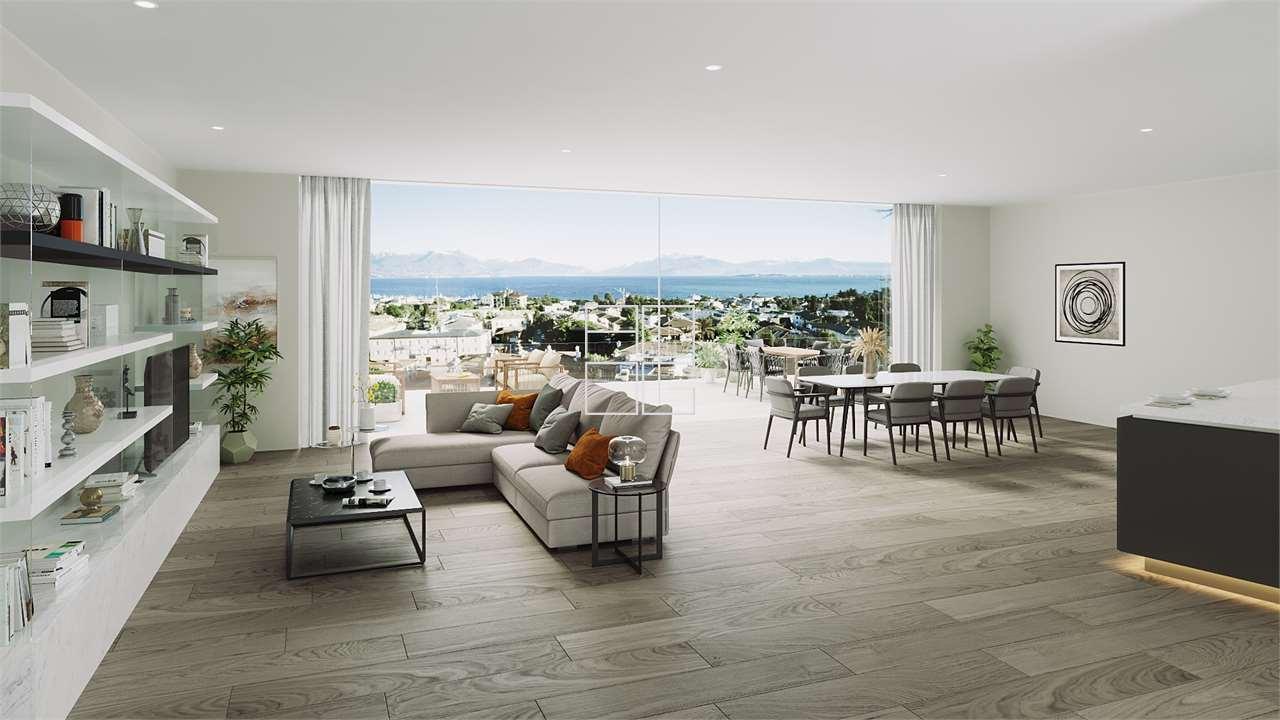 Wonderful total lake view penthouse with solarium in Desenzano del Garda